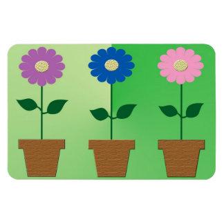 Pretty flowerpots print magnet