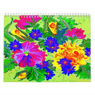 Pretty flowers 2014 calendar