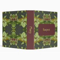 Pretty Flowers 3 Ring Binder