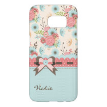 Pretty Flowers and Polka Dots Samsung S7 Case