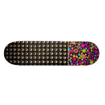 Pretty Flowers And Studs Pattern Skateboard