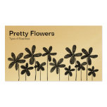 Pretty Flowers - Black and White (Alternating) Business Card Template