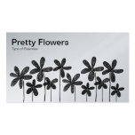 Pretty Flowers - Black and White (Platinum Card) Business Card Template