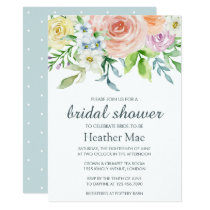 Pretty Flowers Bridal Shower Invitation