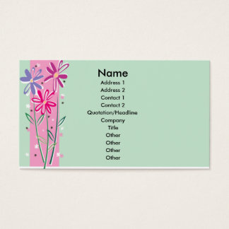 Pretty Flowers Business Card