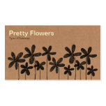 Pretty Flowers - Cardboard Box Texture Double-Sided Standard Business Cards (Pack Of 100)