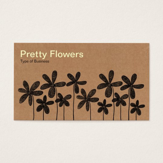 Pretty Flowers - Cardboard Box Texture Business Card