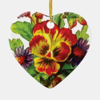 pretty flowers ceramic ornament