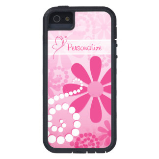 Pretty Flowers Cute Pink Retro Daisies With Name iPhone SE/5/5s Case