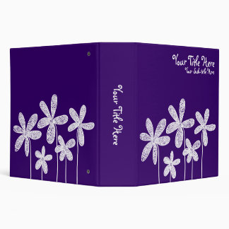 Pretty Flowers - Deep Purple (2in) Binder