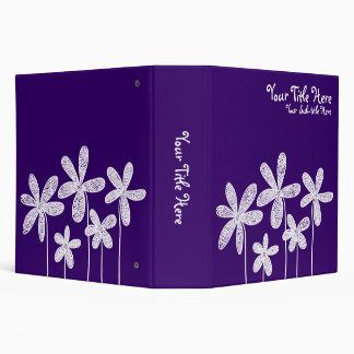 Pretty Flowers - Deep Purple (2in) Binders