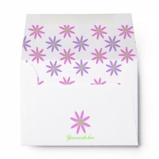 Pretty Flowers Envelope envelope
