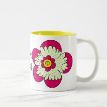 Pretty Flowers for Mom Two-Tone Coffee Mug