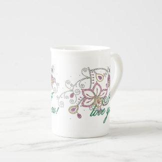 Pretty Flowers I Love You Bone China Mug
