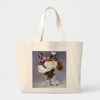 Pretty Flowers in a Crystal Vase Large Tote Bag