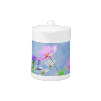 Pretty Flowers in delicate colours Teapot