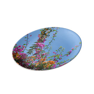 """Pretty Flowers in my Backyard"" Decorative Plate"