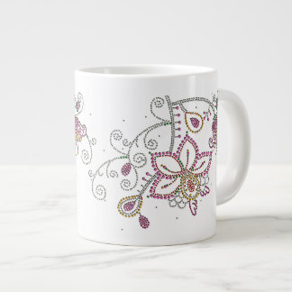 Pretty Flowers Jumbo Mug 20 Oz Large Ceramic Coffee Mug