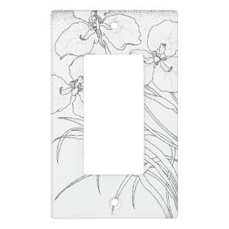 Pretty flowers light switch cover