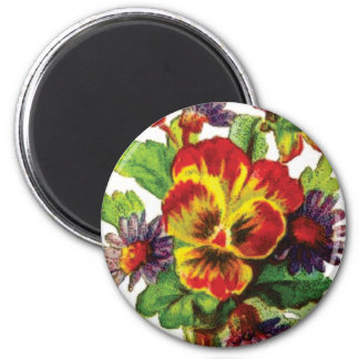 pretty flowers magnet
