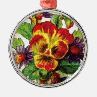 pretty flowers metal ornament