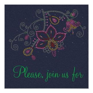 Pretty Flowers Party Invitation
