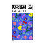 Pretty Flowers ~ Postage Stamps
