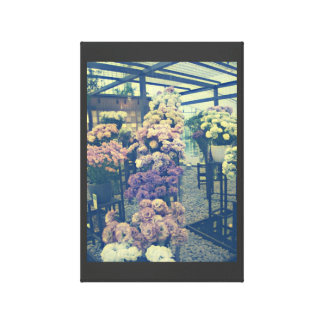 Pretty flowers purple and pink canvas print