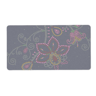 Pretty Flowers Shipping Label