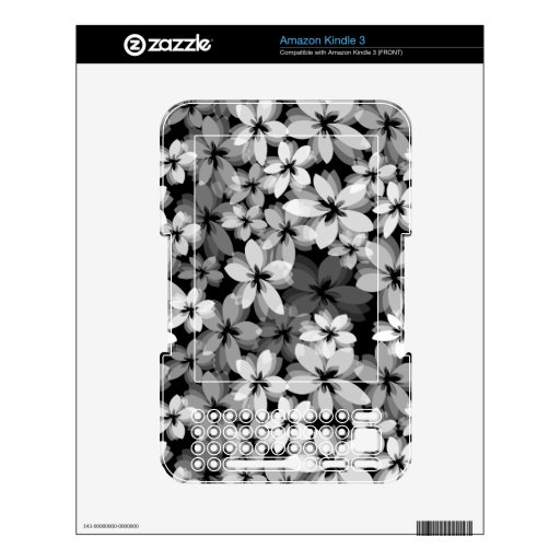 Pretty Flowers Skins For Kindle 3