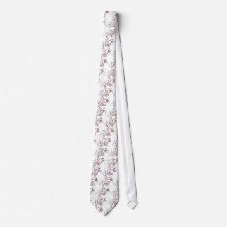 Pretty Flowers Striped Tie