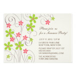 Pretty Flowers -summer party invitation