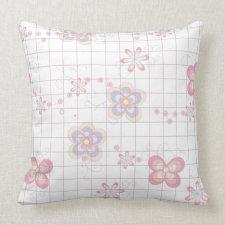 Pretty Flowers Throw Pillows