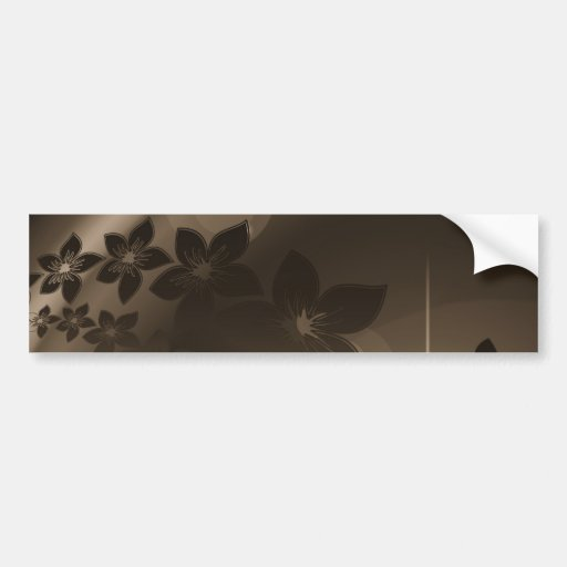 Pretty Flowers with Shades of Brown Bumper Sticker