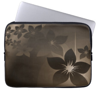 Pretty Flowers with Shades of Brown Laptop Sleeve