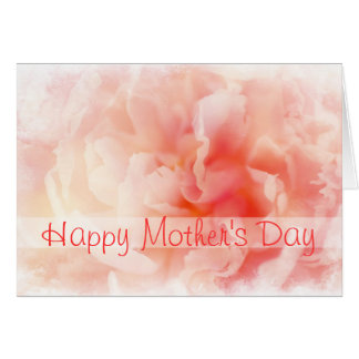 Pretty Fluffy Pink Peony Mother's Day Card