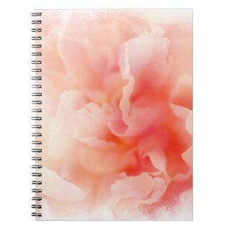 Pretty Fluffy Pink Peony Notebook