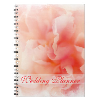 Pretty Fluffy Pink Peony Wedding Planner Notebook
