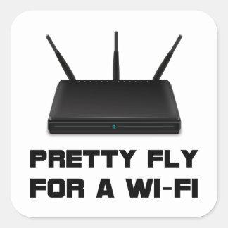 Pretty Fly WiFi Square Sticker