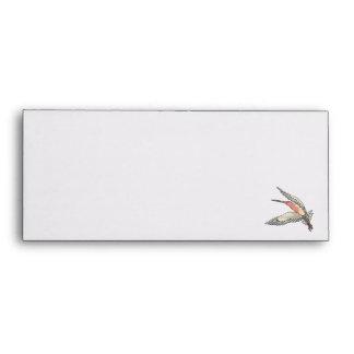 pretty flying hummingbird envelope