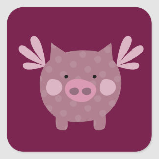 Pretty Flying Pig Sticker