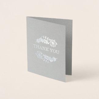 Pretty Foil Floral Custom Greeting Card