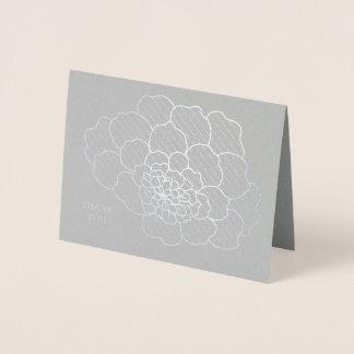 Pretty Foil Floral Design Blank Thank You Card