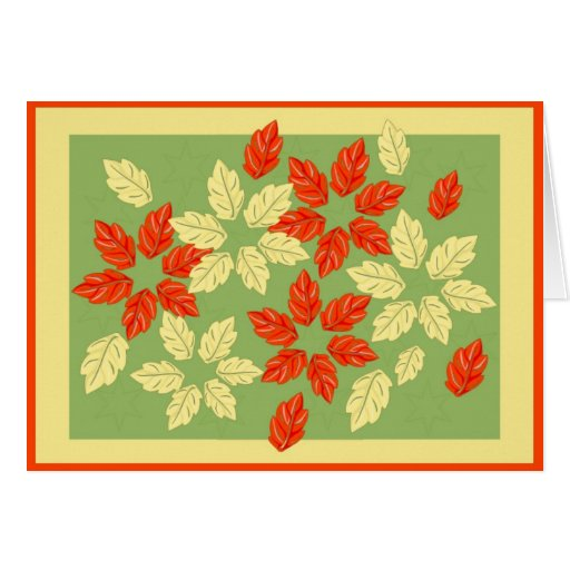 Pretty Foliage Card and Matching Postage