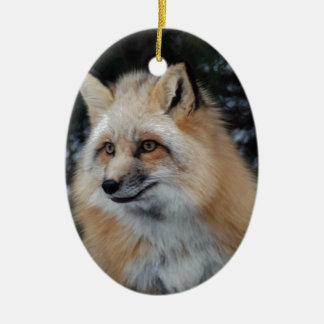 Pretty Fox Profile Ceramic Ornament