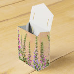 Pretty foxglove flowers favor box