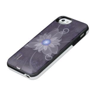 Pretty Fractal Triskelion Purple Passion Flower iPhone SE/5/5s Battery Case