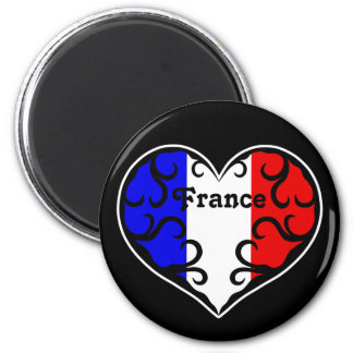 Pretty France heart Magnets
