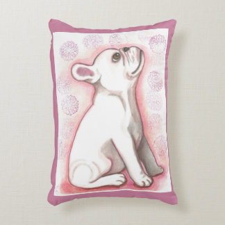 Pretty French Bulldog pup accent pillow