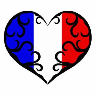 Pretty French heart Statuette